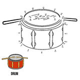 Numbers game for children: musical instruments (drum) Royalty Free Stock Photos