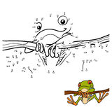 Numbers game for children, Red-eyed tree frog Stock Photos