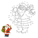 Numbers game for children: Santa Claus Royalty Free Stock Photo