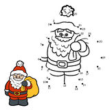 Numbers game for children: Santa Claus Royalty Free Stock Images