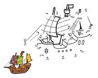 Numbers game for children: ship Royalty Free Stock Photos