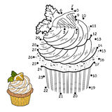 Numbers game for children, vector cupcake with lemon Stock Image