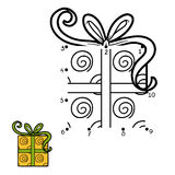 Numbers game, Christmas Gift Royalty Free Stock Image