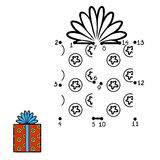 Numbers game, Christmas Gift. Numbers game, education dot to dot game for children,  Christmas Gift Royalty Free Stock Photography