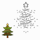 Numbers game (christmas tree) Royalty Free Stock Image