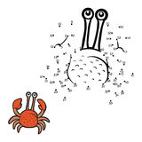 Numbers game (crab). Numbers game for children (crab Stock Photos