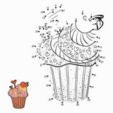 Numbers game (cupcake). Numbers game for children (cupcake Stock Image