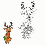 Numbers game (deer) Stock Image