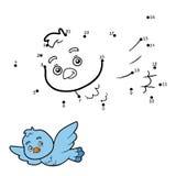 Numbers game, dot to dot (bird) Royalty Free Stock Image