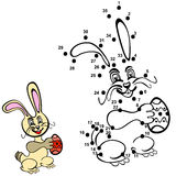 Numbers game. Easter rabbit Stock Photography