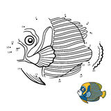 Numbers game, Emperor angelfish Stock Photos