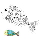 Numbers game (fish) Royalty Free Stock Photo