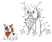 Numbers game (french bulldog) Royalty Free Stock Photo