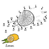 Numbers Game: Fruits And Vegetables (lemon) Stock Image