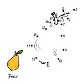 Numbers Game: Fruits And Vegetables (pear) Stock Photo