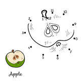 Numbers game: fruits and vegetables (apple) Royalty Free Stock Photography