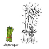 Numbers game: fruits and vegetables (asparagus) Stock Image