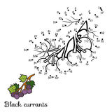 Numbers game: fruits and vegetables (black currants). Numbers game for children: fruits and vegetables (black currants Royalty Free Stock Photos
