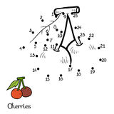 Numbers game: fruits and vegetables (cherry) Royalty Free Stock Image