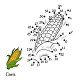 Numbers game: fruits and vegetables (corn) Stock Images