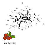 Numbers game: fruits and vegetables (cranberries) Royalty Free Stock Photo