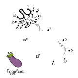 Numbers game: fruits and vegetables (eggplant) Stock Photos