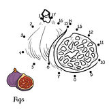 Numbers game: fruits and vegetables (figs) Royalty Free Stock Photo