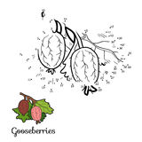 Numbers game: fruits and vegetables (gooseberries) Stock Images