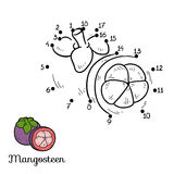 Numbers game: fruits and vegetables (mangosteen) Stock Images
