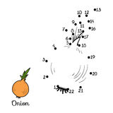 Numbers game: fruits and vegetables (onion) Royalty Free Stock Image
