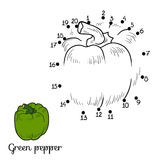 Numbers game: fruits and vegetables (pepper) Royalty Free Stock Photo
