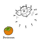 Numbers game: fruits and vegetables (persimmon) Royalty Free Stock Photo