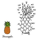 Numbers game: fruits and vegetables (pineapple) Royalty Free Stock Photos