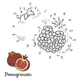 Numbers game: fruits and vegetables (pomegranate) Royalty Free Stock Photos