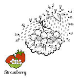 Numbers game: fruits and vegetables (strawberry) Royalty Free Stock Photography
