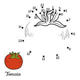 Numbers game: fruits and vegetables (tomato) Royalty Free Stock Photo