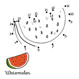 Numbers game: fruits and vegetables (watermelon). Numbers game for children: fruits and vegetables (watermelon Royalty Free Stock Image