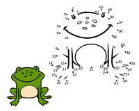 Numbers game, game for children (frog) Royalty Free Stock Photos