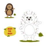 Numbers game, hedgehog Royalty Free Stock Image