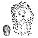 Numbers game, Hedgehog Royalty Free Stock Photo