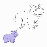 Numbers game (hippo). Numbers game for children (hippo Stock Photos