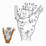 Numbers game (koala). Numbers game for children (koala Royalty Free Stock Photography
