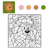 Numbers game (lion). Numbers game for children (lion Royalty Free Stock Photos