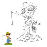 Numbers game (little boy fisher) Stock Photography