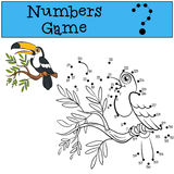 Numbers game. Little cute toucan. Royalty Free Stock Image