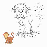 Numbers game (monkey). Numbers game for children (monkey Royalty Free Stock Photo