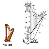Numbers game: music instruments (pedal harp) Royalty Free Stock Photos