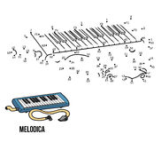 Numbers game: musical instruments (melodica) Stock Photography