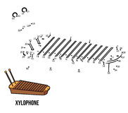 Numbers game: musical instruments (xylophone) Royalty Free Stock Photography