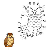 Numbers game (owl, bird) Royalty Free Stock Images